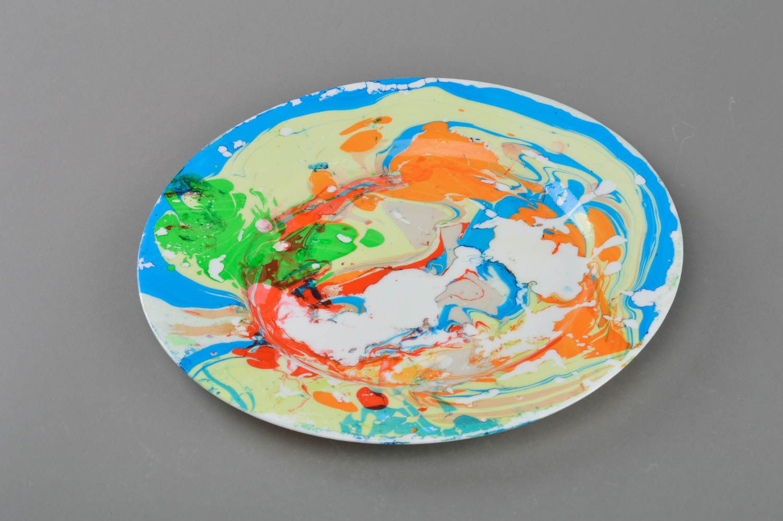 MADEHEART > Assiette décorative en verre imitation marbre faite main ...
