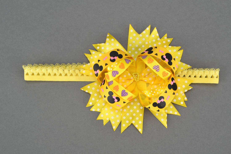 Homemade yellow headband photo 1