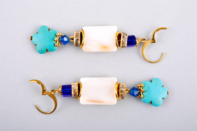pendientes largos Pendientes originales aretes artesanales bisutería fina hecha a mano para mujer , MADEheart.