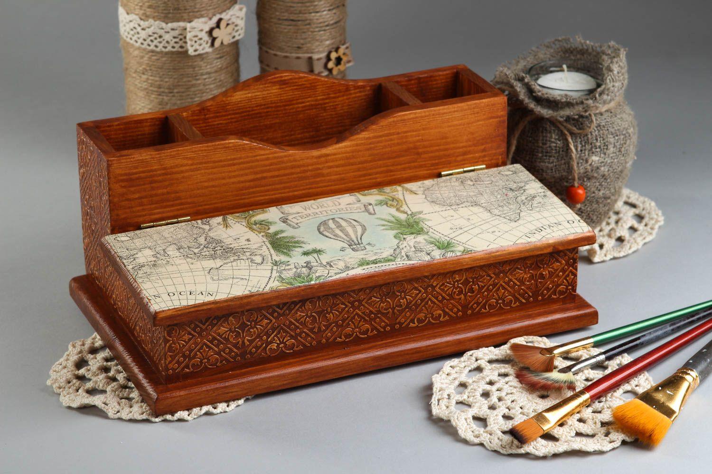 Schreibwaren Handmade Schreibtisch Accessoires Holz Dekoration Wohnzimmer  Design Büroartikel   MADEheart.com