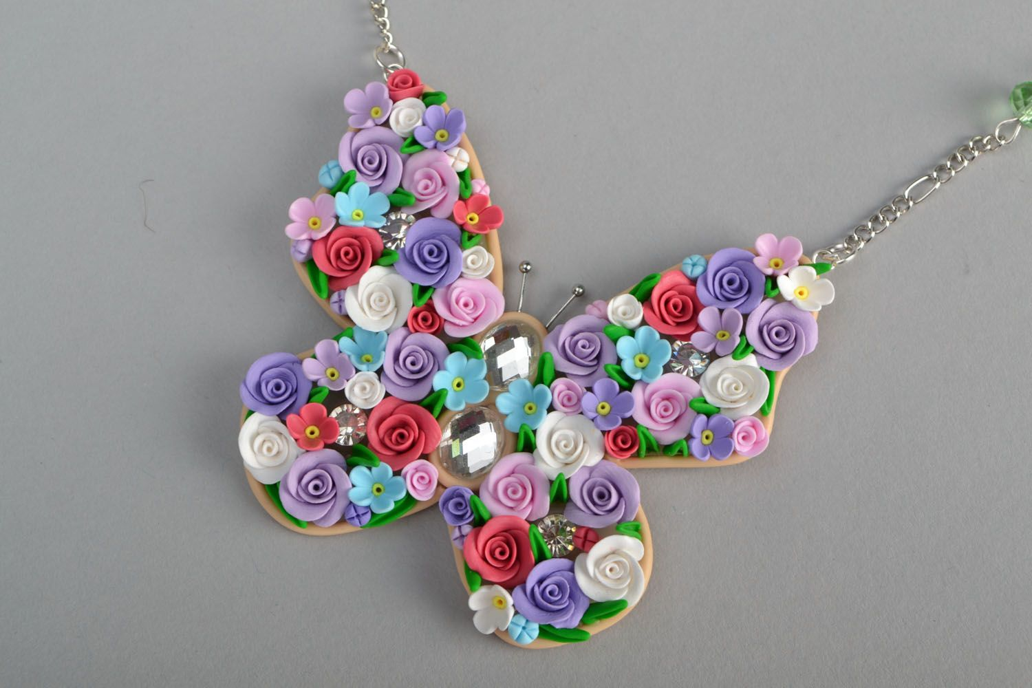 Polymer clay pendant Butterfly  photo 3