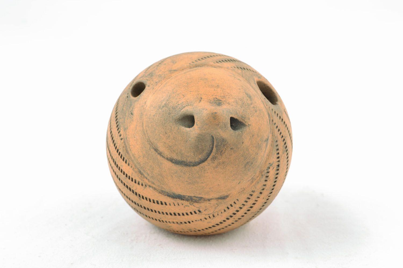 Handmade ceramic penny whistle photo 3
