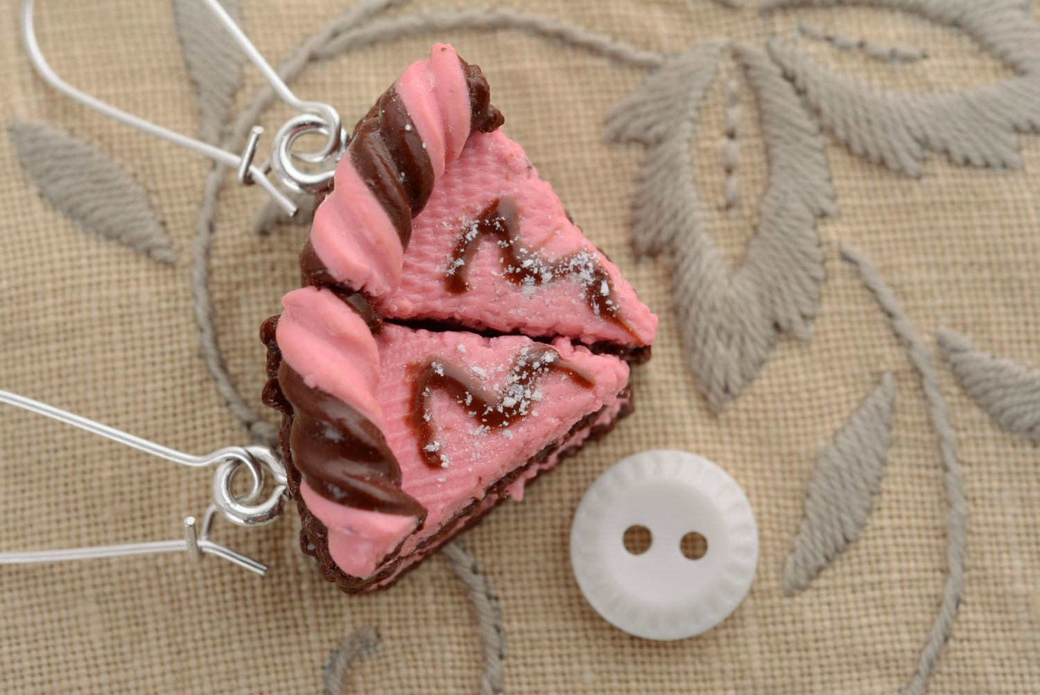 Polymer clay earrings Cakes photo 3