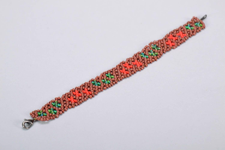 Плетеный браслет на руку фото 4