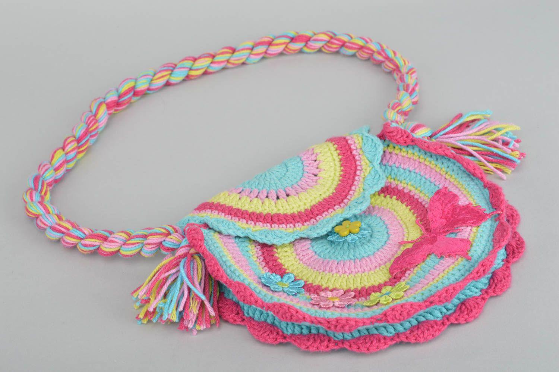7ff8815e33b3 cумки женские Вязаная сумка крючком ручной работы сумка через плечо детская сумочка  круглая - MADEheart.