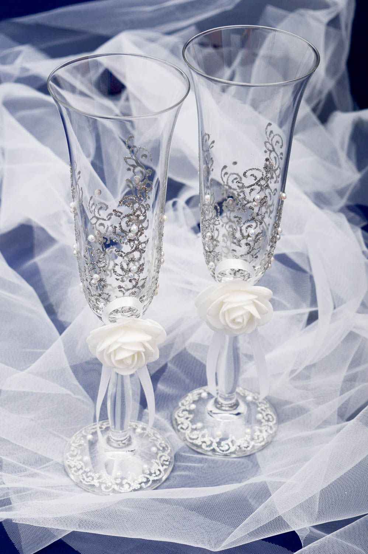 хрустальные бокалы картинки свадебные представляла собой