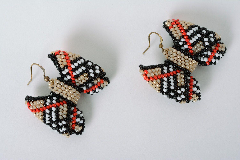 pendientes de abalorios pendientes originales de abalorios lazos a cuadros hechos a mano para mujeres - Cuadros Originales Hechos A Mano