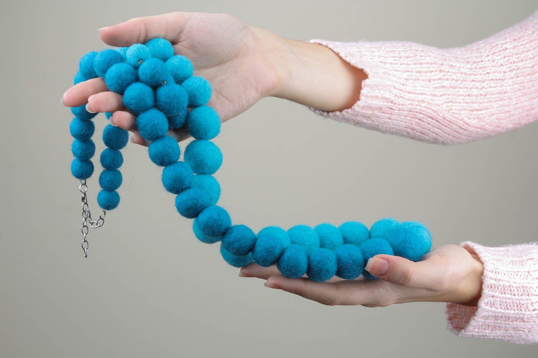 Woolen jewelry set photo 4