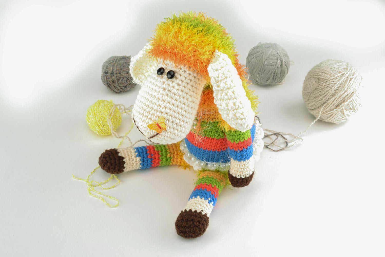 Вязание крючкомигрушка овечка 84