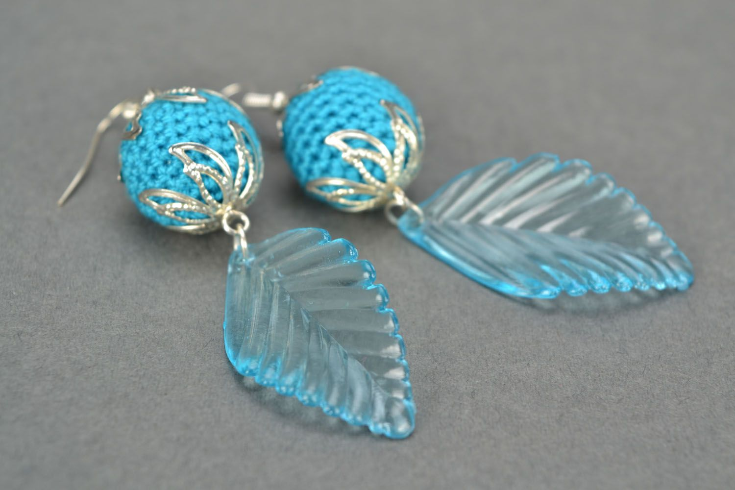 Blue earrings photo 5