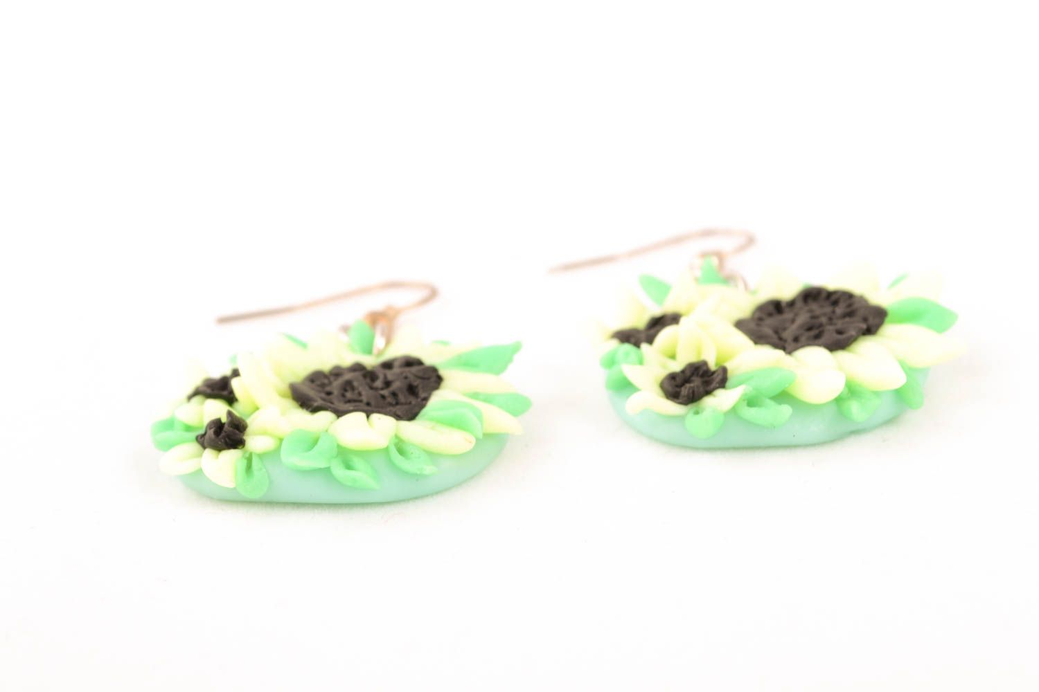 Polymer clay earrings Flowers photo 1
