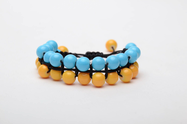 Bracelet woven of glass beads photo 2