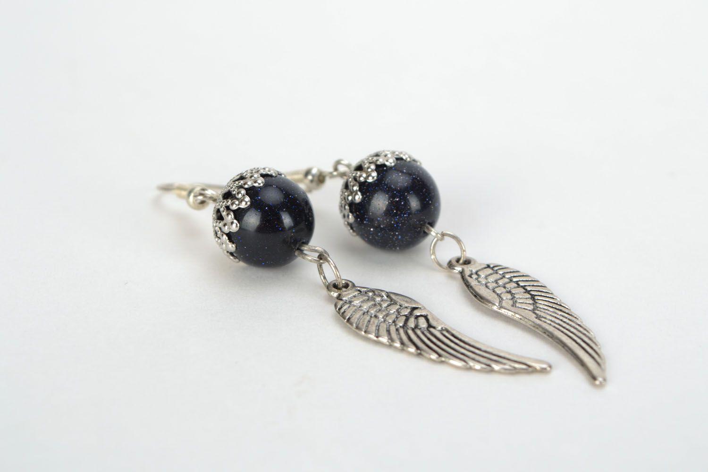 Earrings with aventurine Angel wings photo 1