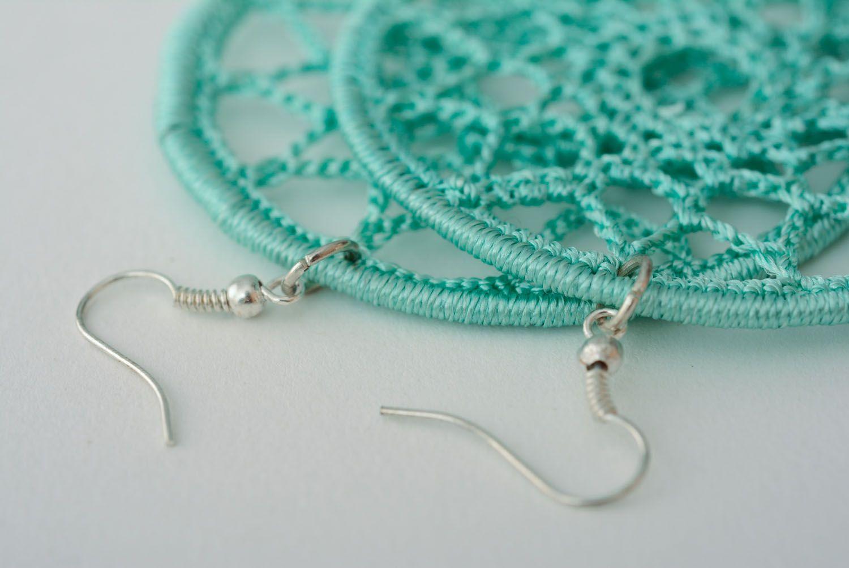 Lace earrings Mint photo 5