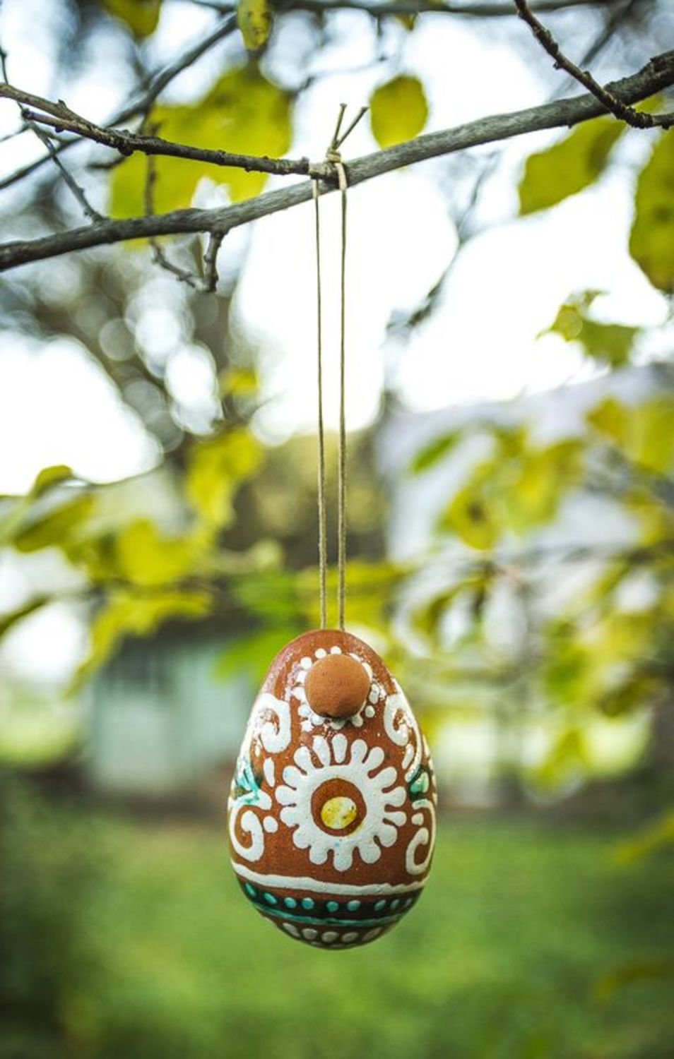Ceramic bell in the shape of an egg  photo 1