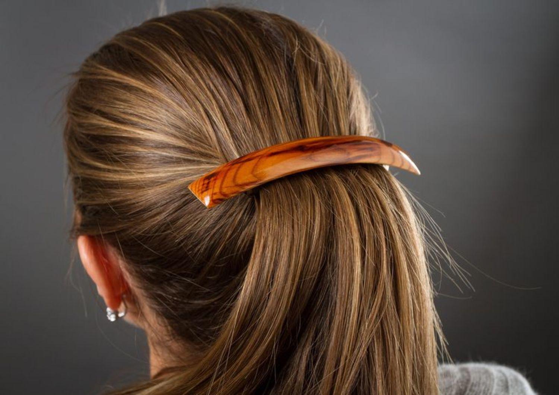 Деревянная заколка для волос фото 2