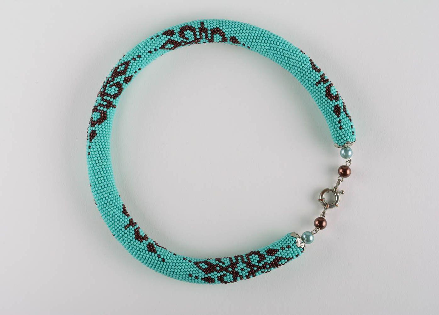 Blue beaded cord photo 4