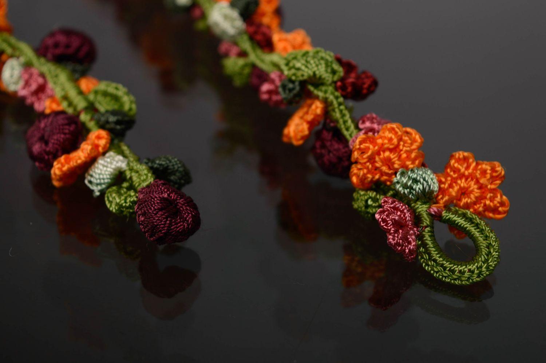 Handmade crochet necklace Blooming Garden photo 5