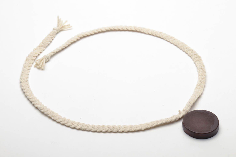 Homemade wooden pendant photo 4