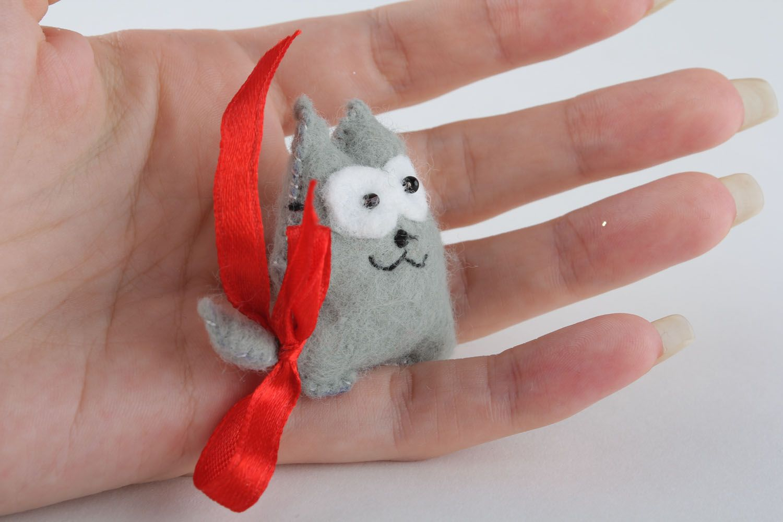 Soft fridge magnet Gray Cat photo 5