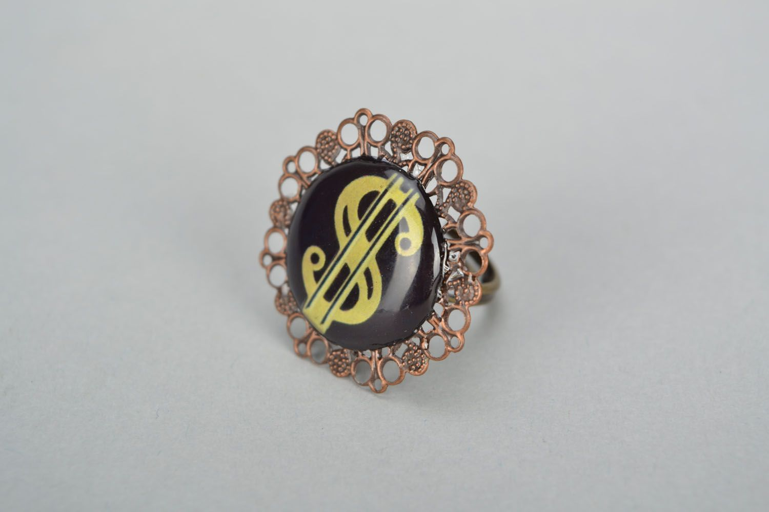 Unusual ring for women photo 2