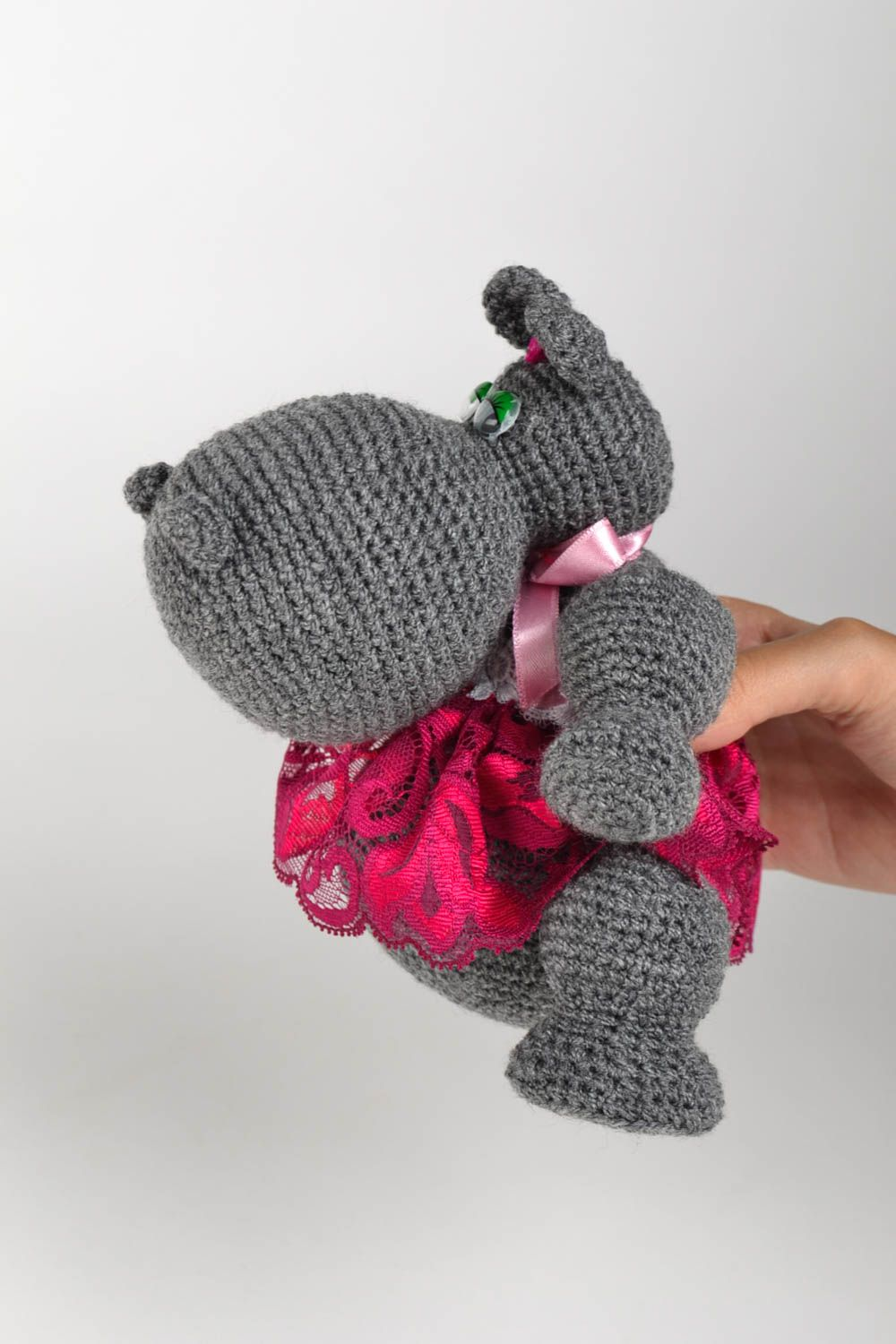 knitted toys Crocheted soft toy hand-crocheted stuffed toy for babies home decor ideas - MADEheart.com