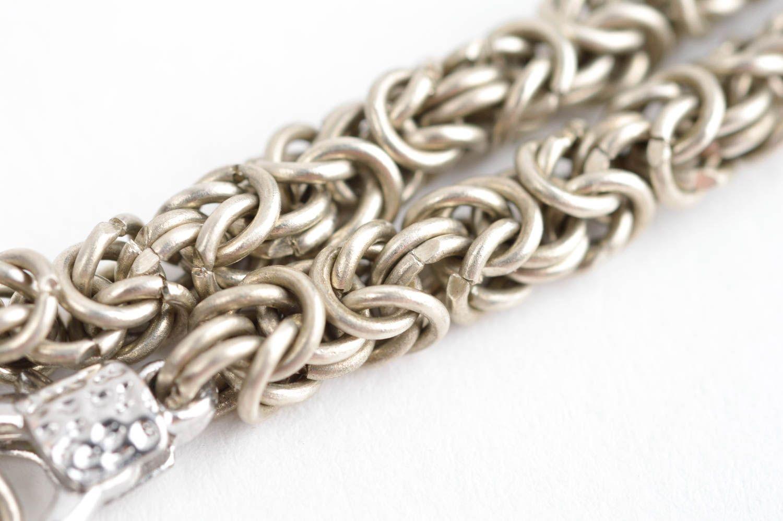 Handmade cupronickel bracelet chain weaving accessories designer bijouterie photo 4