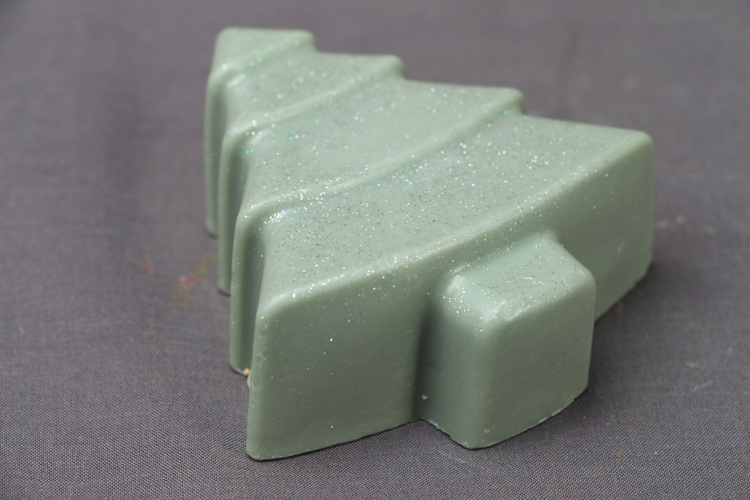 Beautiful soap in the shape of fir tree photo 2