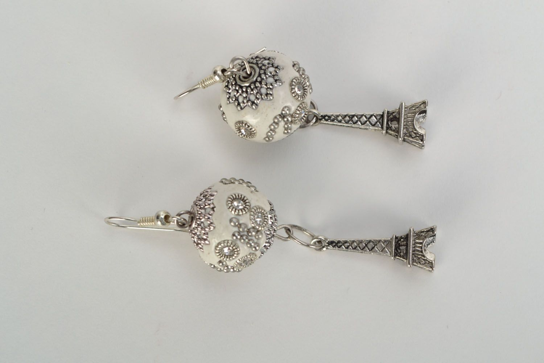 Earrings with rhinestones photo 3