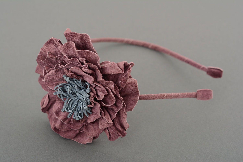 Обруч для волос с цветком фото 2