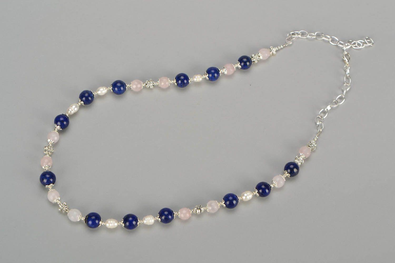 Halskette mit Natursteinen foto 3