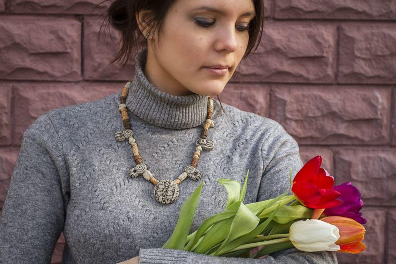 Ожерелье в этническом стиле фото 4