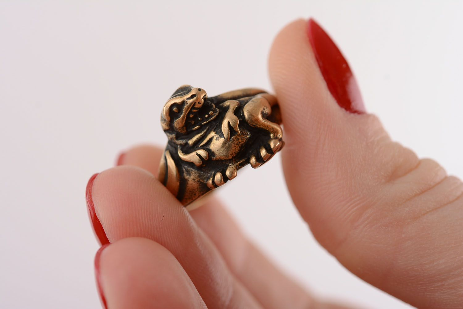 Bronze seal ring Dragon photo 4