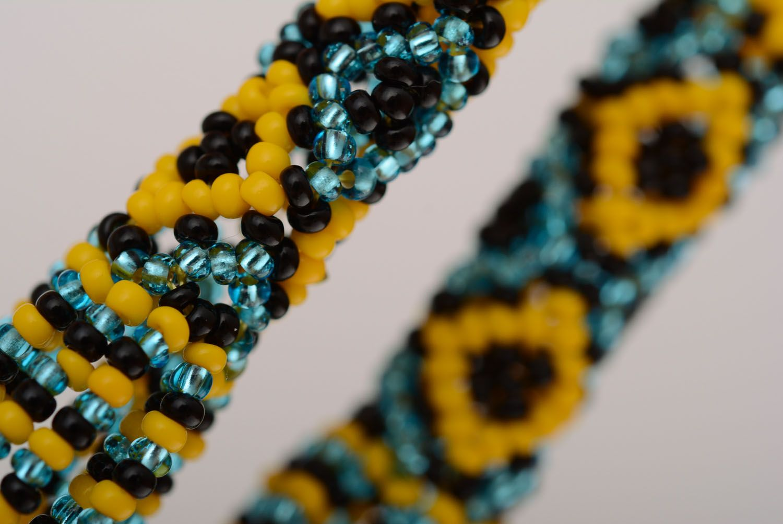Ethnic beaded earrings photo 3