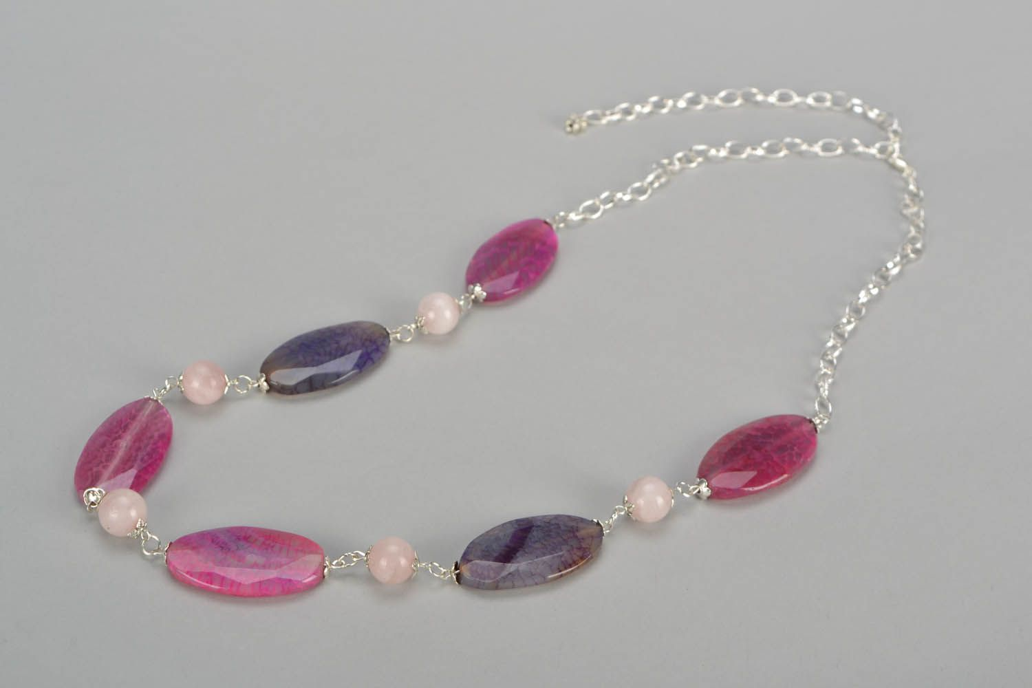 Necklace with natural stones photo 3
