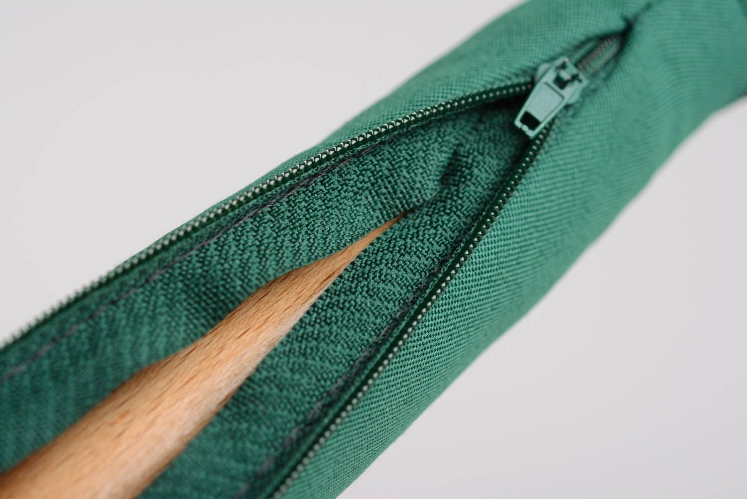 Wooden stick for yoga practice in soft case photo 3