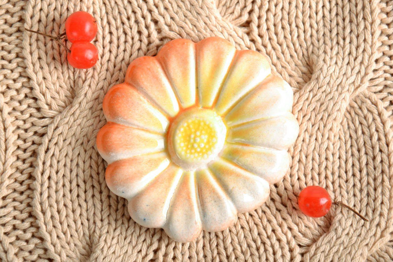 Clay fridge magnet flower photo 1