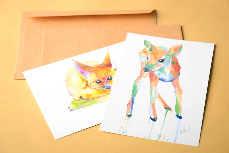Handmade greeting card unusual card gift ideas designer signature card photo 1