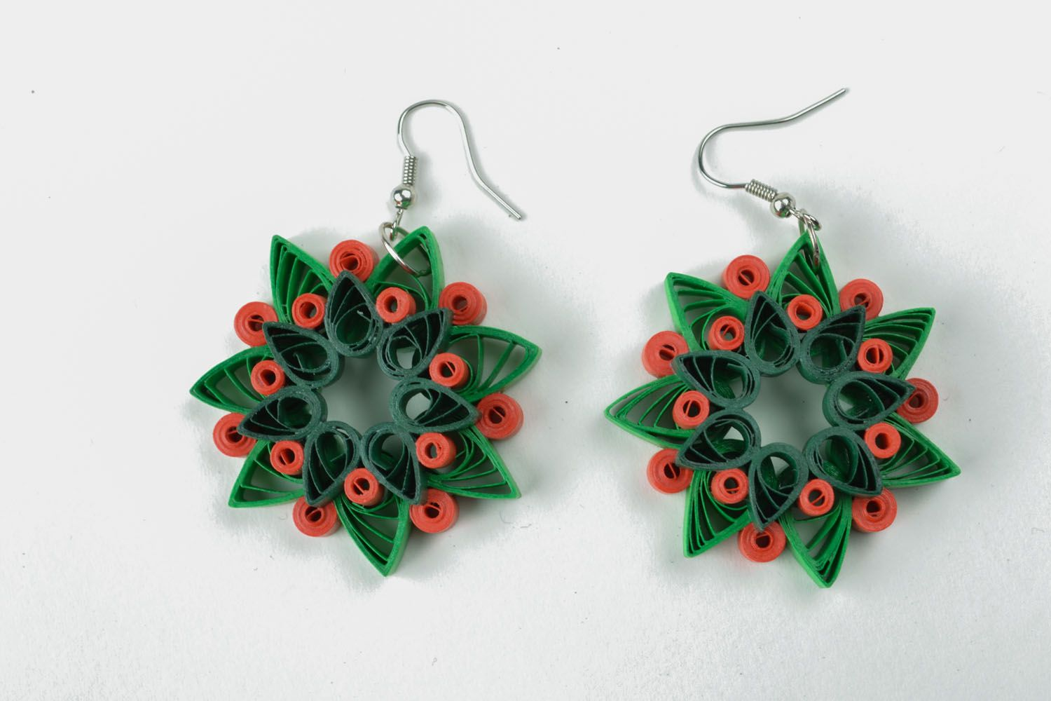 Quilling earrings photo 3
