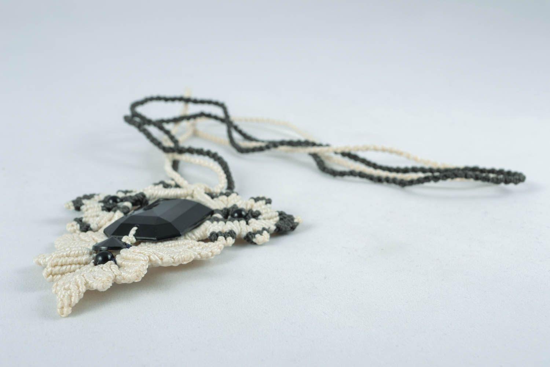 Macrame necklace photo 2