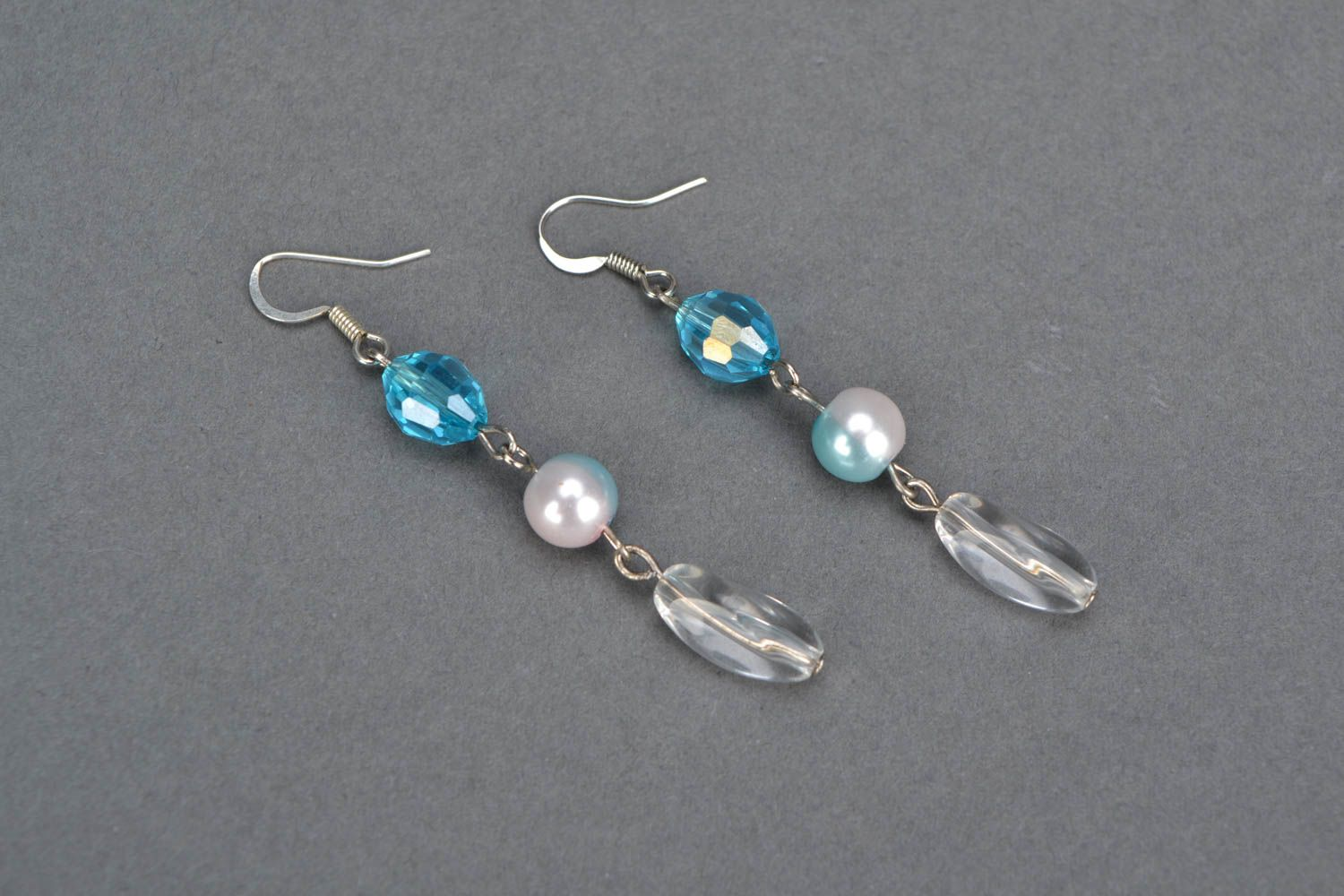 Homemade earrings with beads photo 3