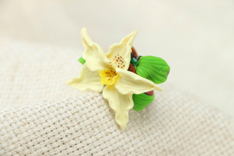 Blume Ring aus Polymerton foto 1