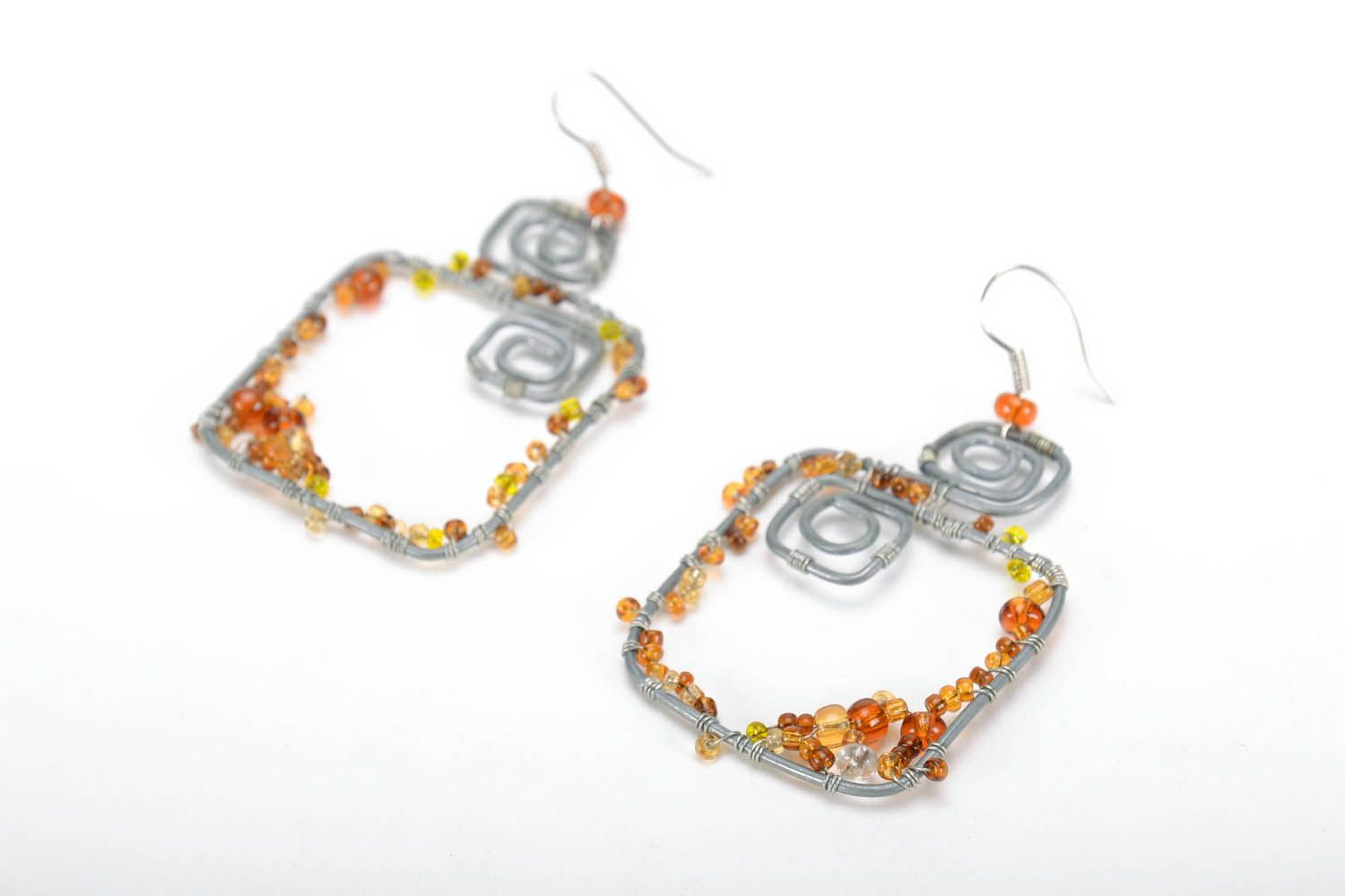 Earrings with natural stones photo 2