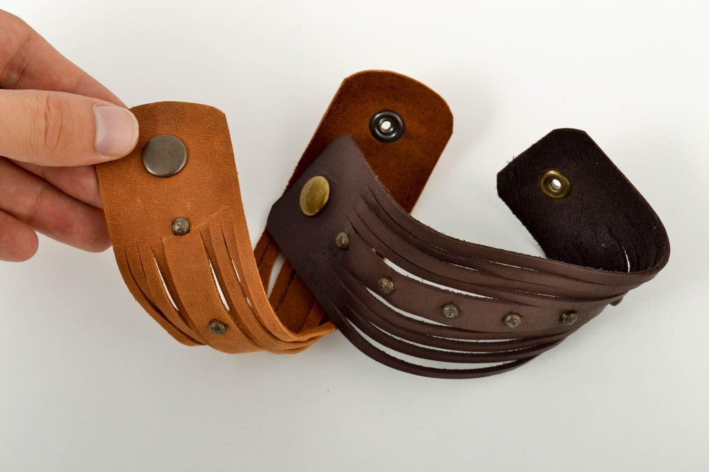 handmade jewelry set leather wrap bracelets handmade leather goods cool gifts photo 5