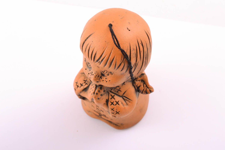 Ceramic bell kilned with milk Boy photo 1