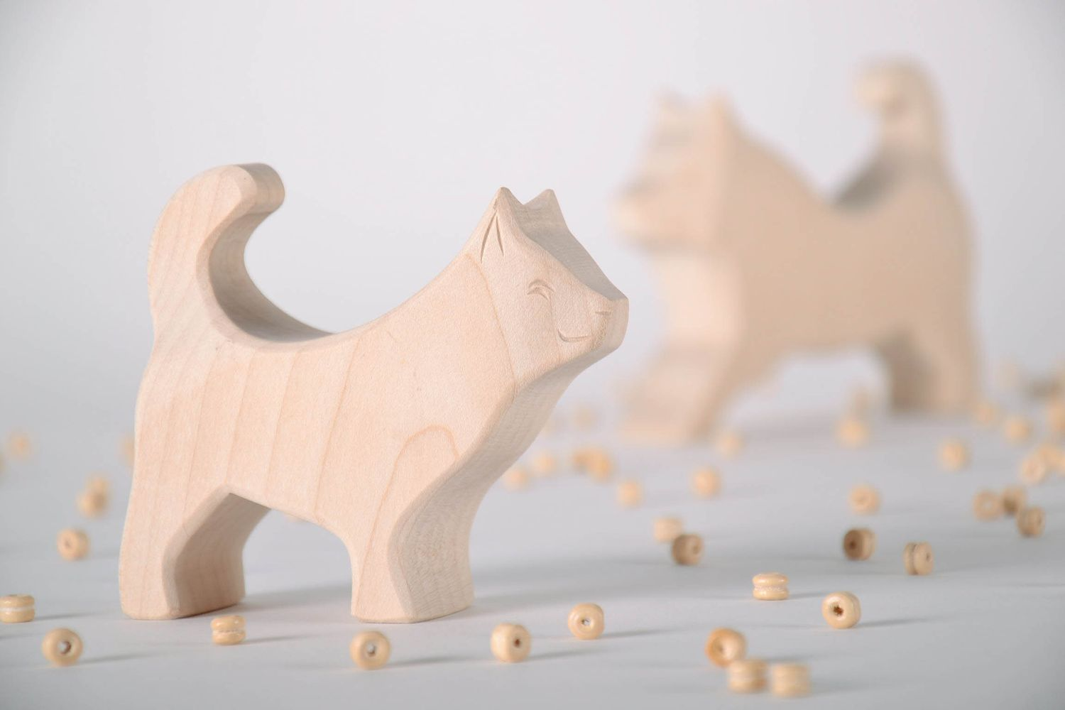 Wooden toy Little Husky photo 1