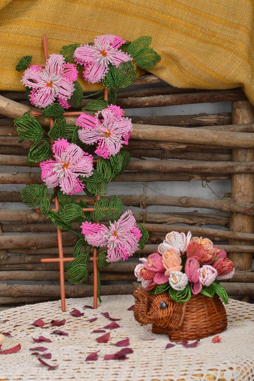 MADEHEART > Blumen Deko handmade künstliche Blumen Glasperlen Deko ...