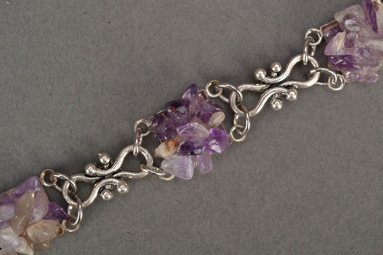 Bracelet with amethyst stone photo 4