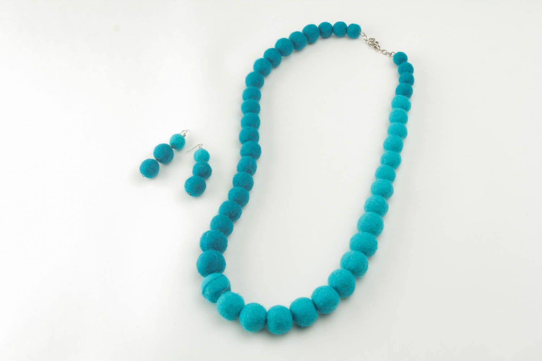Woolen jewelry set photo 2