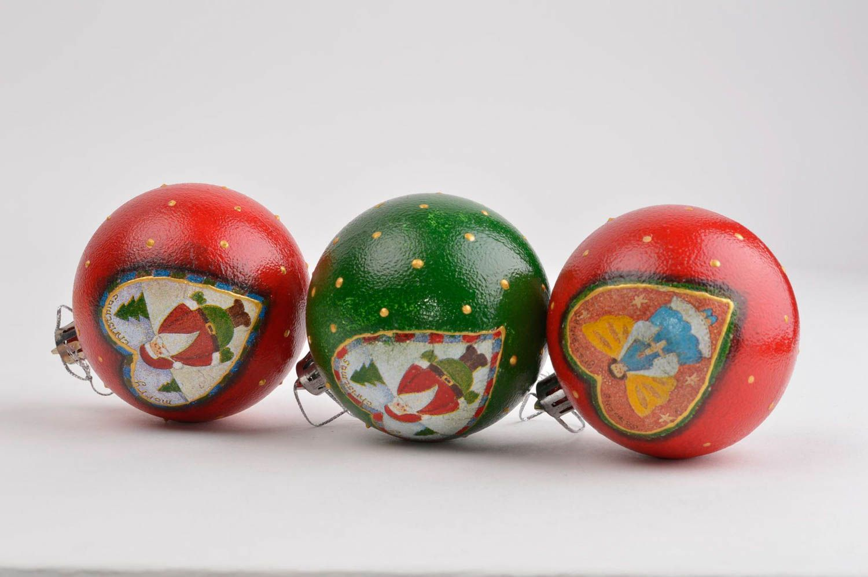 Madeheart bolas de navidad artesanales adornos navide os juego de 3 objetos de decoraci n - Objetos de navidad ...